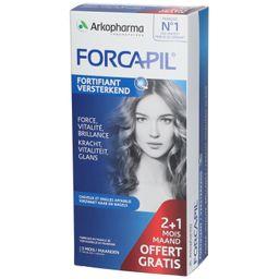 Arkopharma Forcapil® Cheveux et Ongles, Formule fortifiante 3 Mesi