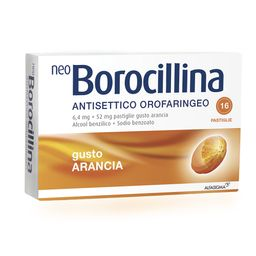 NeoBorocillina Antisettico Orofaringeo Gusto Arancia