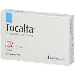 TOCALFA® 20 Capsule Molli Vitamina A 50000 UI + Vitamina E 50 g