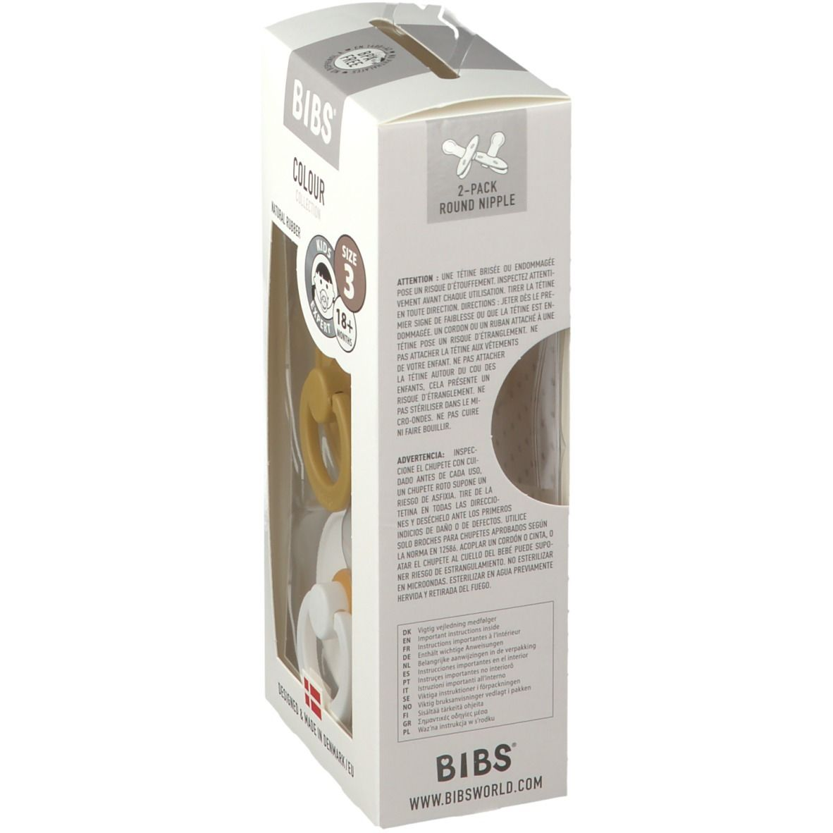BIBS® BIBS COLOUR Mustard - White 18+