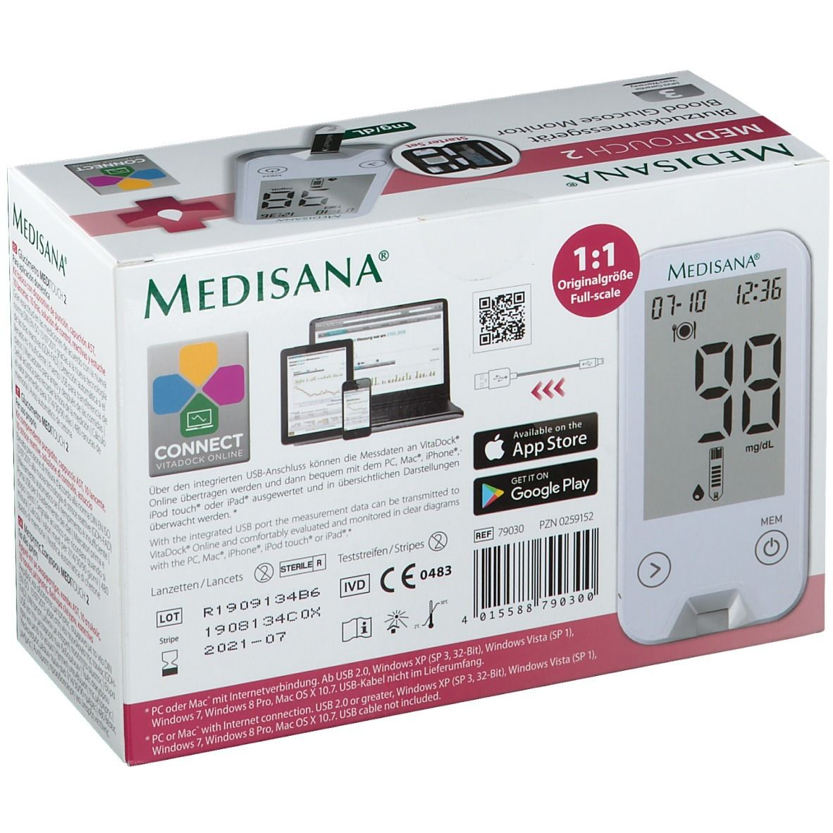 MEDISANA® MediTouch 2 Connect