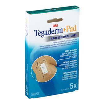 3M Tegaderm + Pad Transparente Sterile 5 x 7Cm