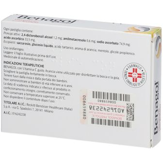 BENAGOL® Vitamina C Gusto Arancia Pastiglie