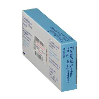 Fluental Bambini 250 mg + 100 mg Supposte