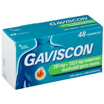 GAVISCON Compresse Masticabili Gusto Menta 250mg + 133,5mg