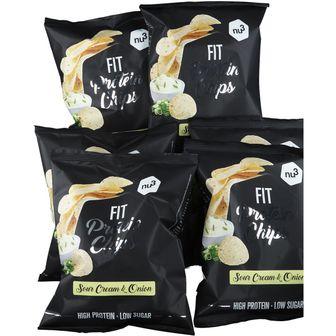 nu3 FIT Protein Chips Sour Cream & Onion 6 Confezioni