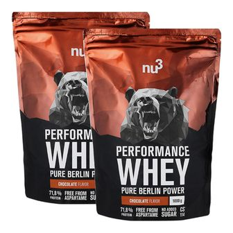 nu3 Performance Whey Cioccolato Set da 2