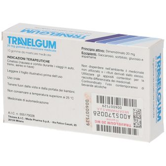 TRAVELGUM 20 mg Gomme da masticare medicate
