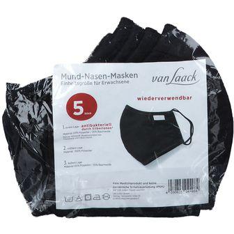 Van Laack Essential Mascherina Nero