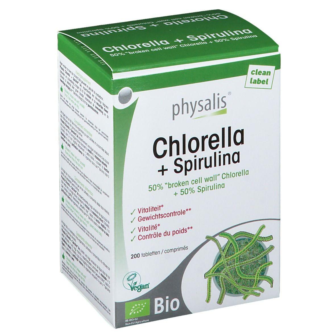 physalis chlorella spirulina bio