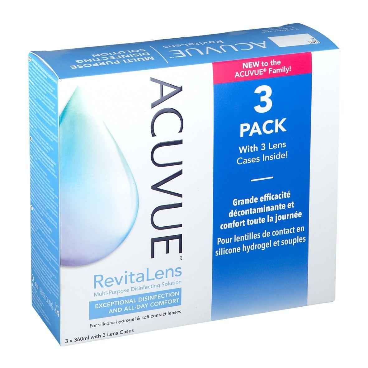 ACUVUE™ RevitaLens Trio + 3 Lense Cases