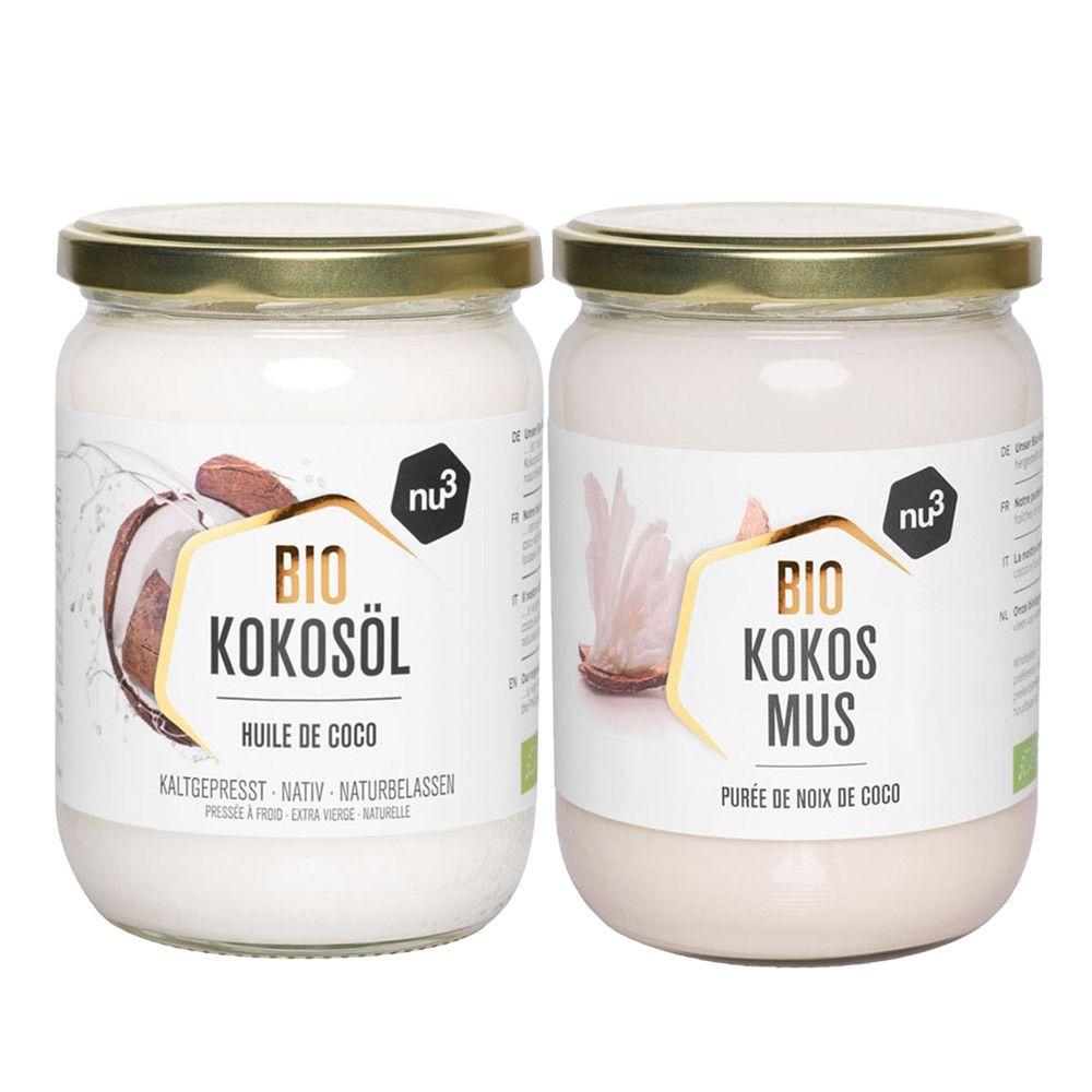 nu3 Olio di Cocco Bio e nu3 Crema di Cocco Bio