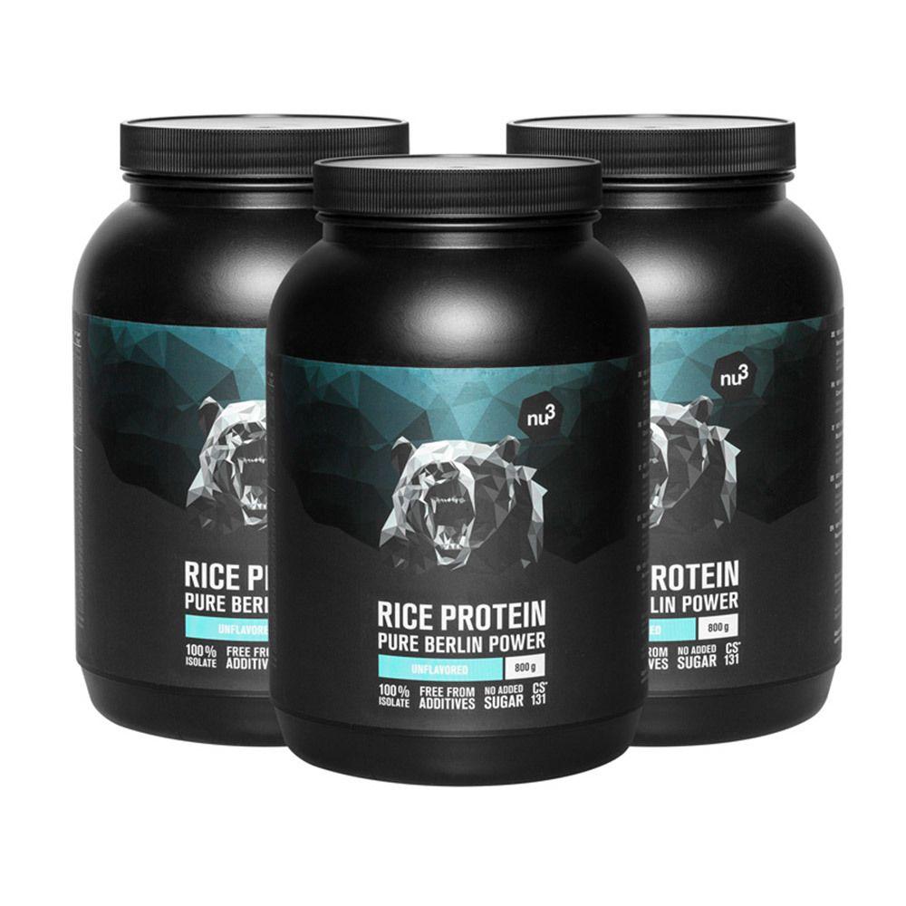 nu3 Proteine del Riso Set da 3