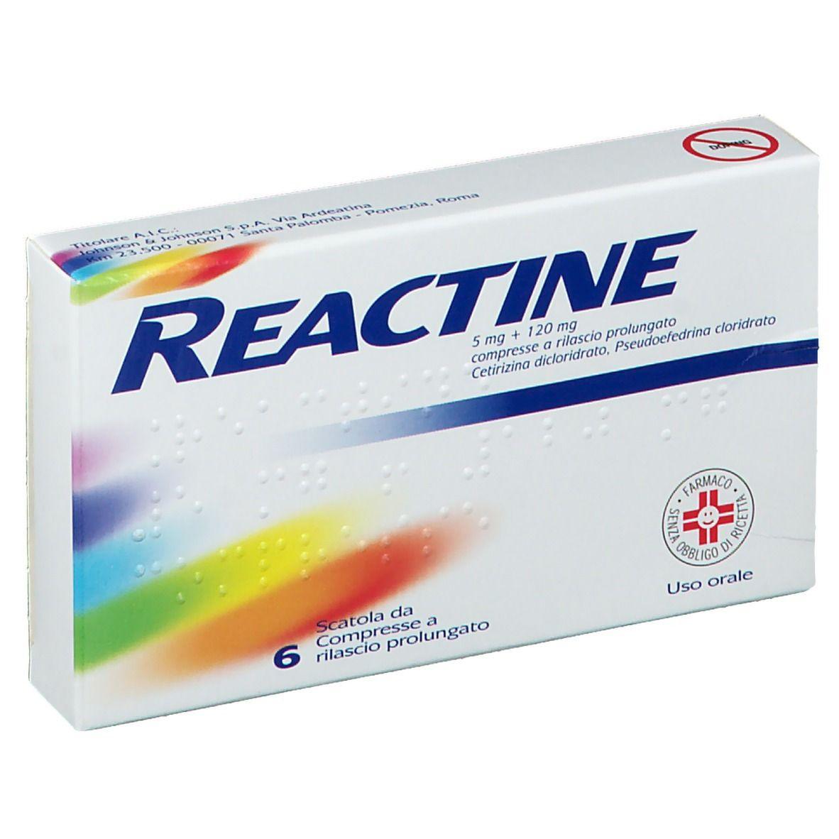 Reactine 5 mg + 120 mg Compresse