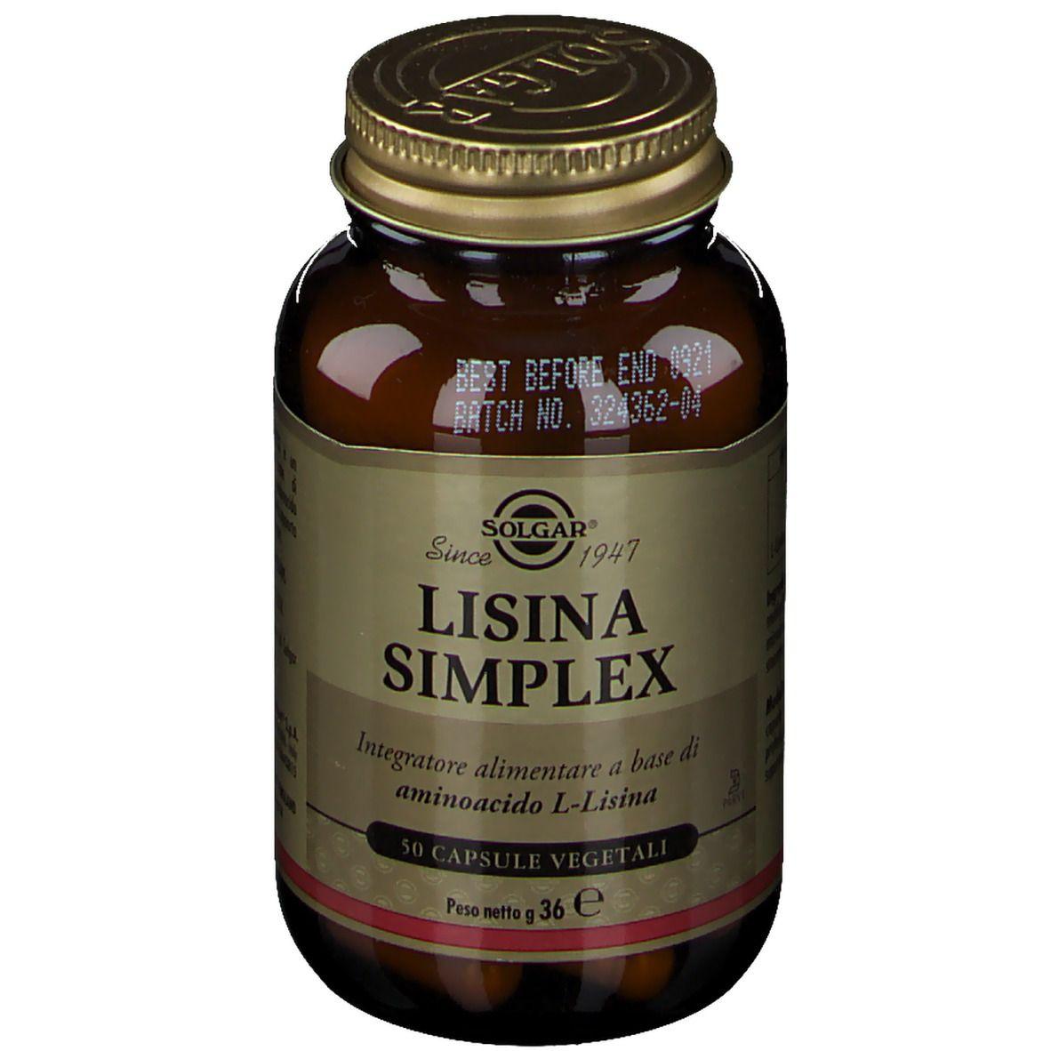 SOLGAR® Lisina Simplex