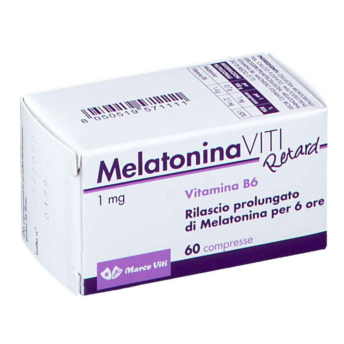 Melatonina Viti Retard 60 Pz Shop Farmacia It